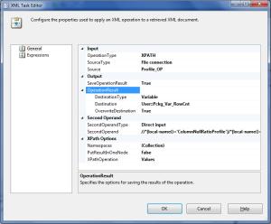 XML Task Editor SSIS